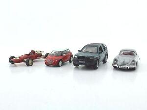 4-x-Schuco-Modellautos-Ferrari-Formel2-Nr-840-Mini-Land-Rover-Porsche-356