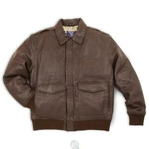 Mens leather bomber jacket ebay