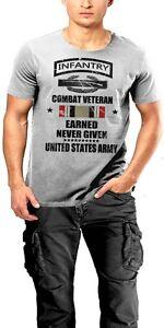 army infantry t shirt 11 bravo grunt combat veteran earned never