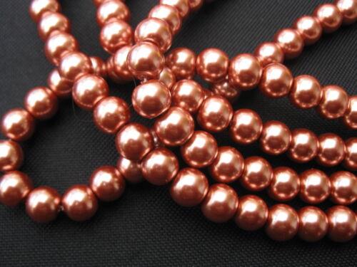 20 despierta de vidrio perlas 10mm cobre oro perlas nuevo 11304