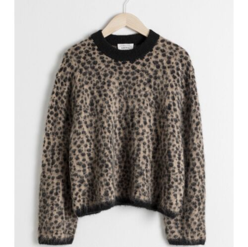 & Other Stories Leopard Wool Sweater (Size XS)