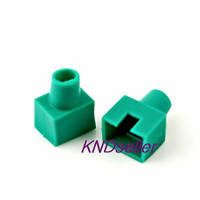 100pcs BLUE Square Boots Cap Plug for RJ45 Cat5 Cat6 Modular Connector Network