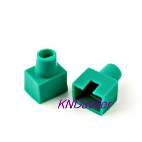 200PCS Green Square Boots Cap Plug for RJ45 Cat5 Cat6 Modular Connector Network