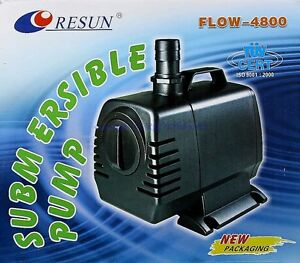 Fish & Aquariums Resun Flow 4800 L/h Centrifugal Pump Rotary 4,5m Feed Sweet And Saltwater