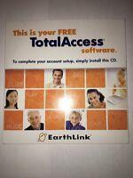 Earthlink Total Access Cd 2005.1 For Windows 98/2000/xp/me & Mac Os X V10.1 Rare