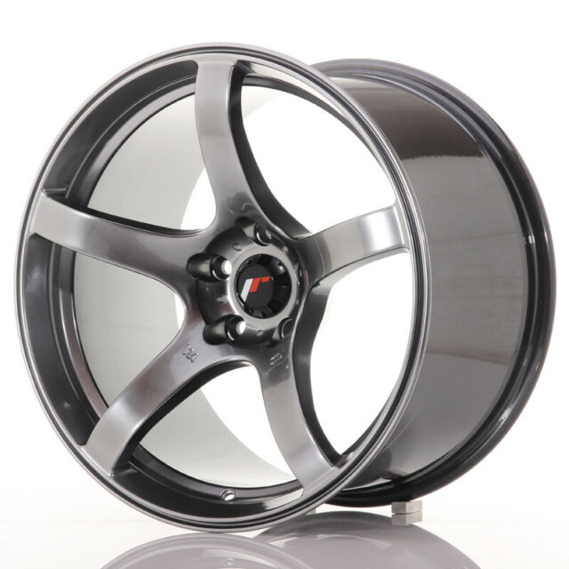 Un Cerchio in Lega Japan Racing JR18 17x8 ET35 5x100//114 Nero lucido spazzolato