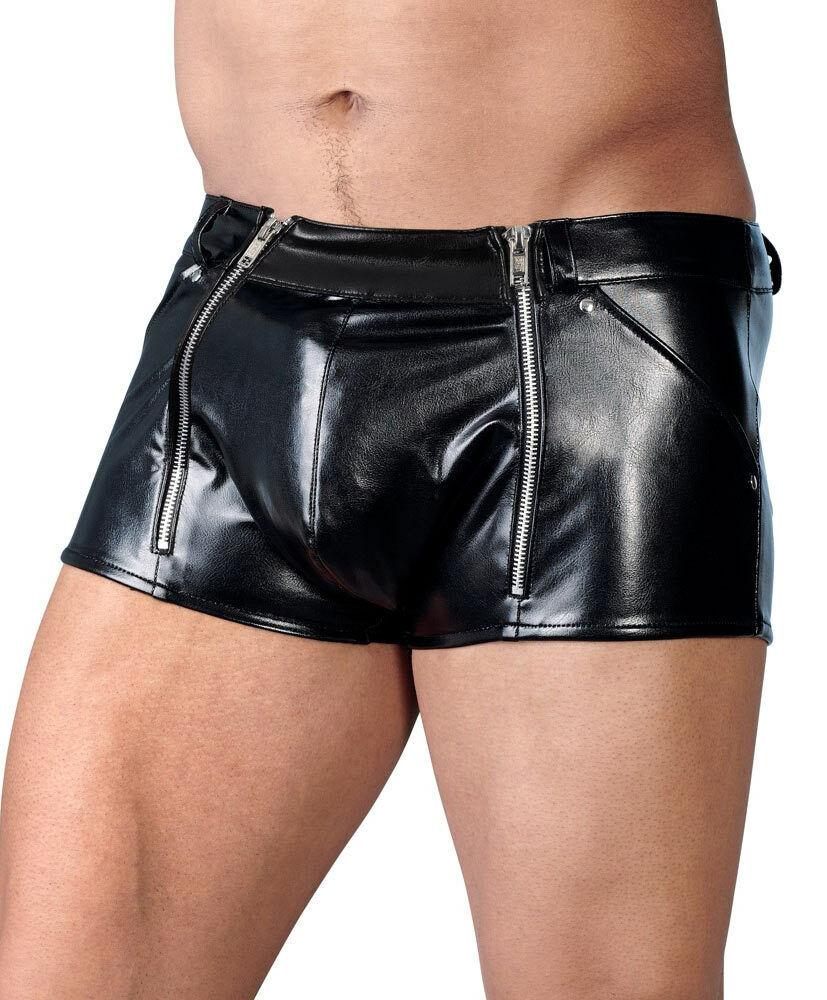 Herren Pants S-XL Zip Leder-Imitat Shorts Boxer Boxer Boxer Lederhose Leder-Optik  Scotty'' | Vorzugspreis  | Charmantes Design  | Elegante und robuste Verpackung  | Up-to-date-styling  | Überlegene Qualität  7073f9