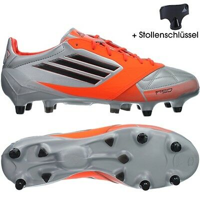 Adidas F50 Adizero XTRX SG men's soccer cleats silverblackorange SG studs NEW | eBay