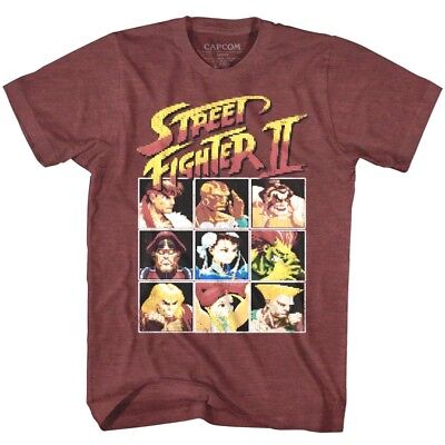 Street Fighter 2 Player Select Screen 8bit Pixel Men S T Shirt