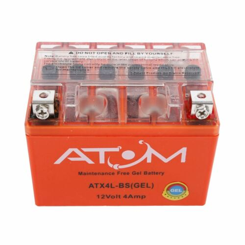 Atom Advanced ATX4L-BS Gel Motorcycle Battery Replaces YTX4L-BS