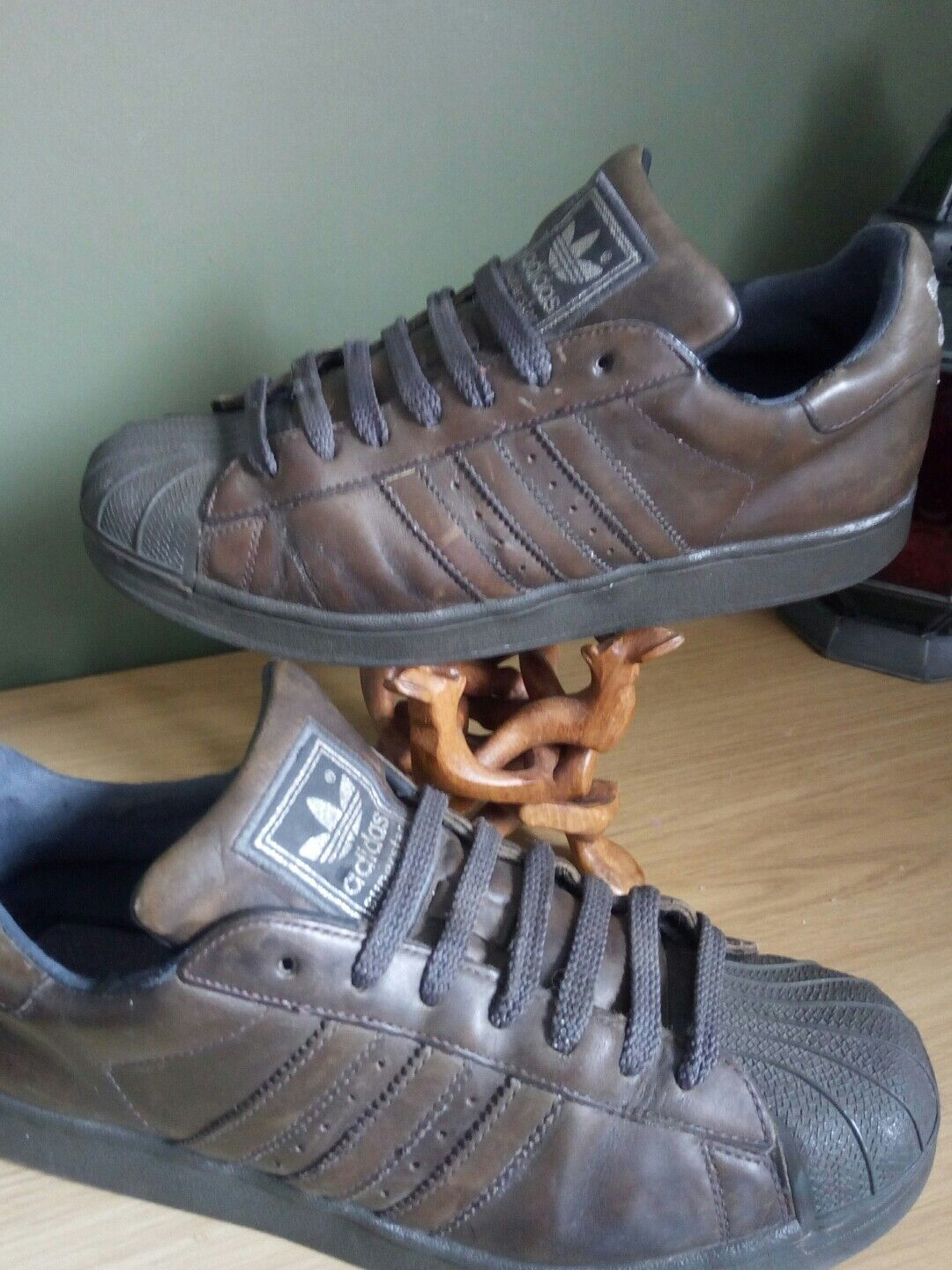 Adidas Superstar uK 9s Olive Green Beeswax Leather Comfortable and good-looking