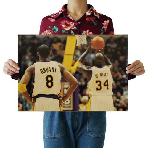 US SELLER- Shaquille O'Neal Kobe Bryant LAKERS sports poster home bar decor