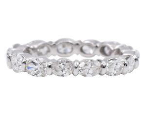 a7617e53c866b9 Image is loading 2-95ct-Oval-Cut-Diamond-Eternity-Wedding-Band-