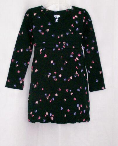 new NWT girls AMERICAN EAGLE 77 KIDS Cotton Blend Black Heart Bubble Dress Sz 3