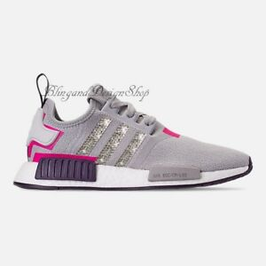 b7651bc67 NWT Women s Bling Adidas NMD R1 Shoe Custom with Swarovski Crystals ...
