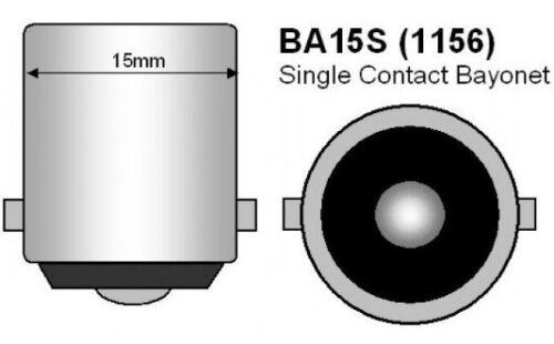 Lampada Led Stop Freni Bianco BA15S 1156 P21W 33 SMD HID CANBUS NO ERROR 12V 24V