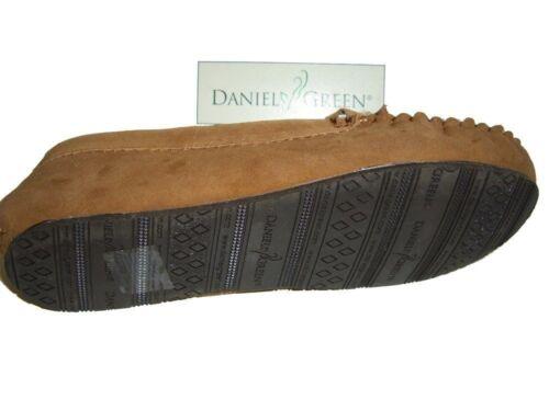 Daniel 11 Fodera Green Neta 784060176973 pelliccia Women's M Loafers Chestnut Pelle Shearling in Sz rrHwfqxg