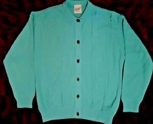 CLASSIC WOMEN'S CAPERS COLLECTION MINT GREEN CARDIGAN SIZE 8
