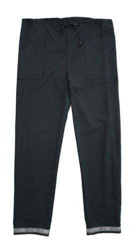 Donna Taglia 8 10 12 14 Nero Pantaloni Alla Caviglia Dettaglio in Pizzo disegnare vita stringa LICK *