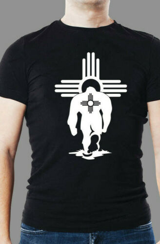 Simple Zia  Sasquatch with ZIA on his back walking into another ZIA T Shirt