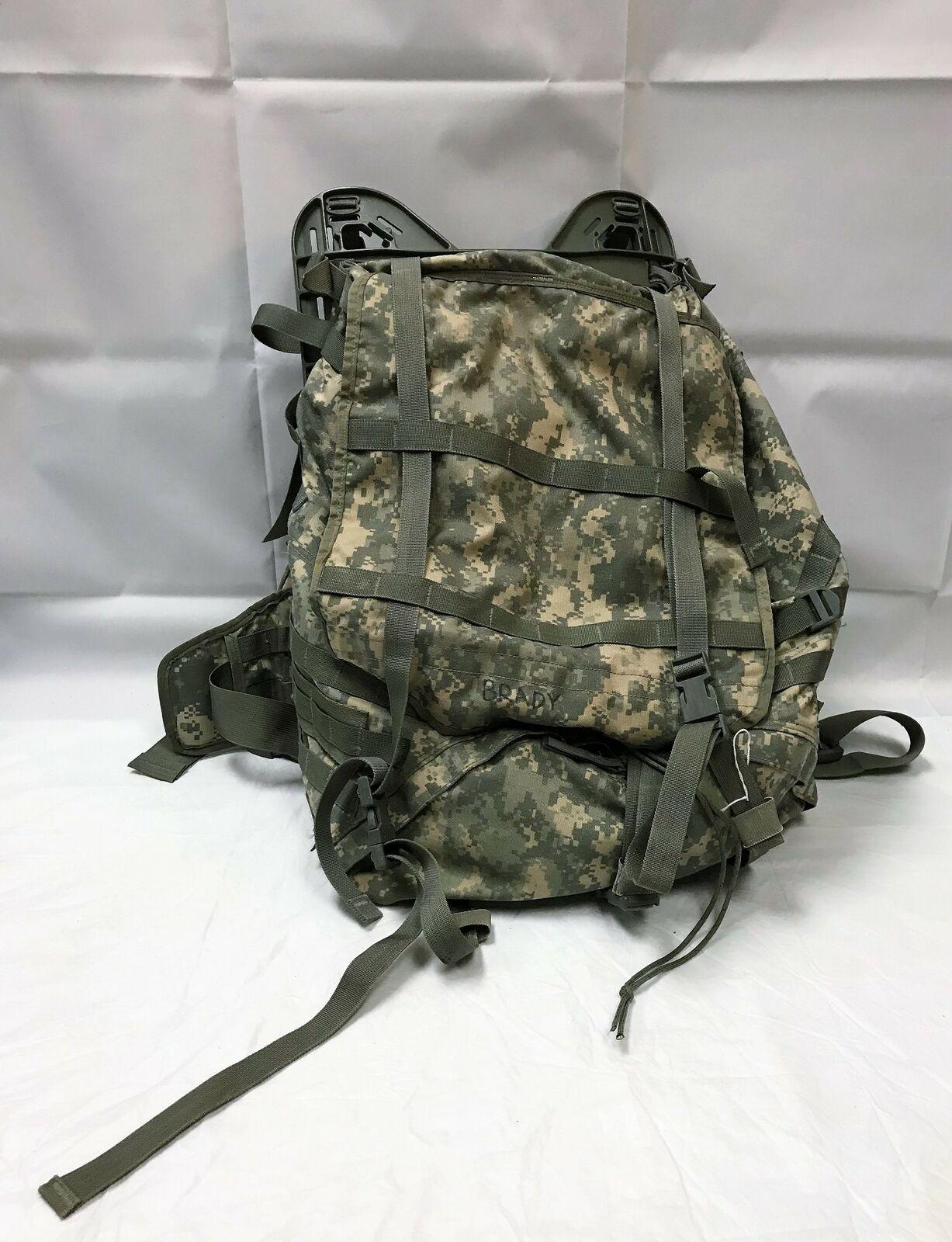 Large U.S. Army Military Grade ACU Molle II Rucksack Backpack With Frame