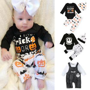 Halloween Newborn Baby Boy Girl Bat Romper Bodysuit Jumpsuit Outfits Clothes Set