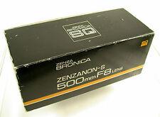 ZENZA BRONICA Zenzanon-S 8/500 500 500mm F8 8 SQ-Ai 6x6 new neu adapt. Phase One