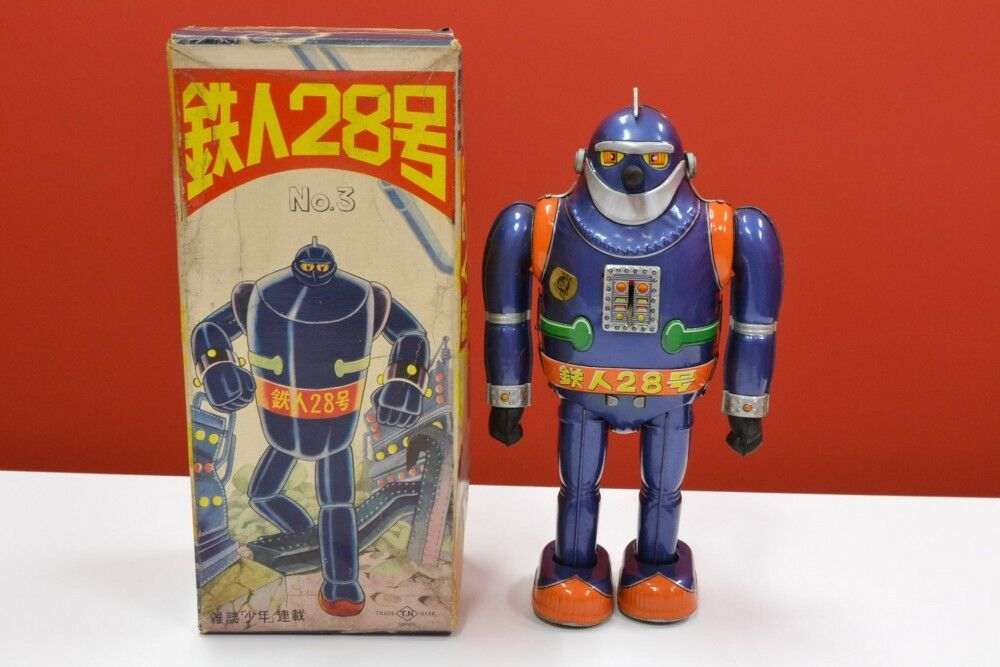 Tetsujin 28 No.3 Windup Tin Toy Rare Vintage made by Nomura Toy Japan Roboto