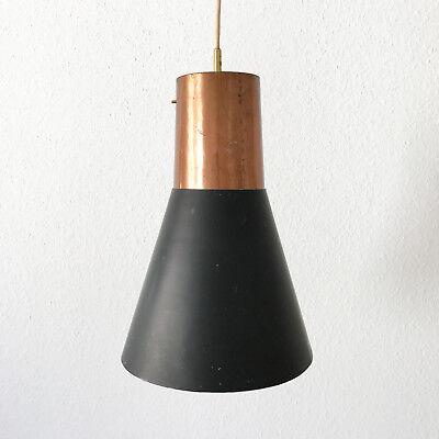 Rare Lovely Mid Century Modern Copper Hanging Lamp Ceiling Pendant Light 1950s Ebay