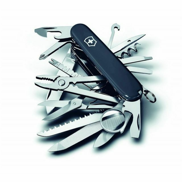 Swiss Army 53503 Black Large Swiss Champ Victorinox Multi Tool Knife ...