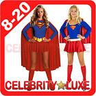 New Ladies Super Hero Woman Girl Fancy Dress Costume Party Superhero Supergirl