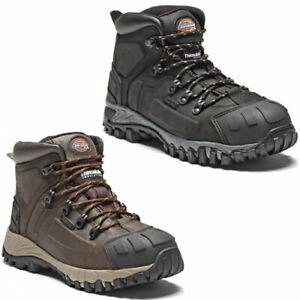 DICKIES-MEDWAY-Waterproof-Safety-Boots-Hiker-STEEL-TOE-Leather-Black-Brown