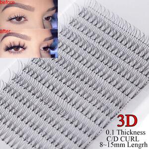 SKONHED-12-Lines-Premade-Russian-Volume-Fan-Lashes-3D-Mink-Eyelash-Extensions