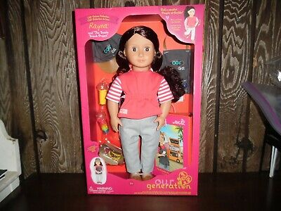 """NEW Our Generation 18/"""" Rayna Deluxe Doll Toy with Book"""