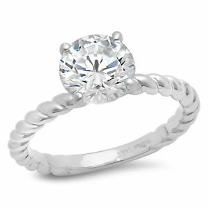 2ct-Round-Cut-Classic-Solitaire-Bridal-Engagement-Promise-Ring-14k-White-gold