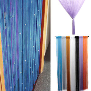 Tenda tendina a fili perline cristallo per porta finestra balcone esterno casa ebay - Tenda per porta finestra ...