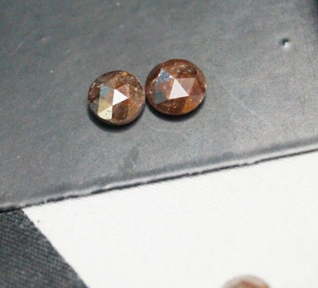 Natural Rose Cut Diamond 4mm Pair Rough Diamond Red Raw