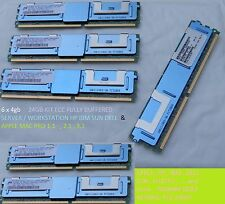 6*4GB 24GB KIT Ram 2rx4 dd2 667MHz FBDIMM APPLE MacPro 1.1 2,1 3,1 IBM HP DELL