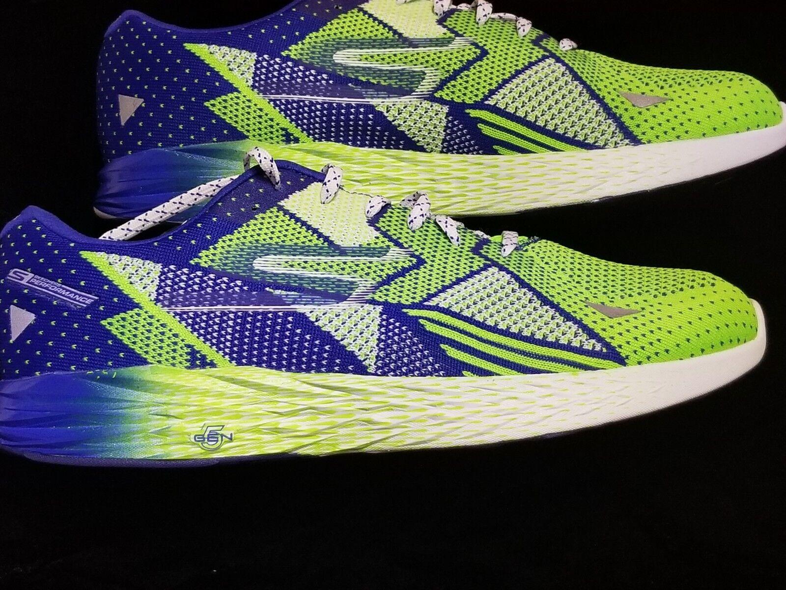 Brand New Skechers Go Meb Razor Green blueE Running shoes - Mens Size 13