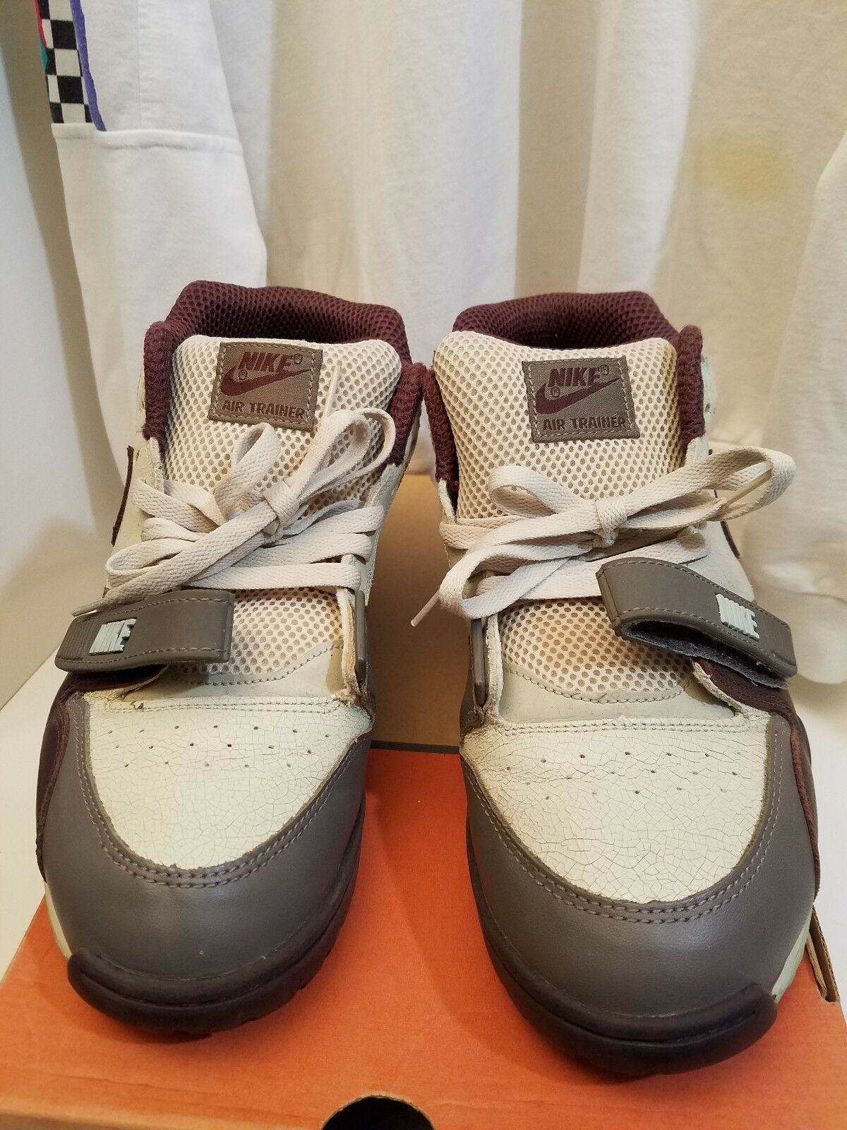 NIKE AIR TRAINER 1 MID Clay Mahogany Bone 2003 US RELEASE ONLY Sz 10