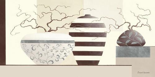David Sedalia Timeless Twigs I Keilrahmen-Bild Leinwand Stillleben modern