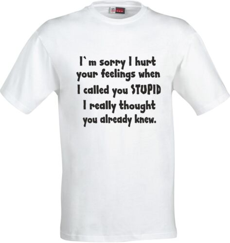 IM SORRY I HURT YOUR FEELINGS WHEN I CALLED YOU STUPID FUNNY GIFT XMAS T SHIRT