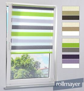 doppelrollo duorollo klemmfix jalousie rollo ohne bohren seilf hrung 3 farbig ebay. Black Bedroom Furniture Sets. Home Design Ideas
