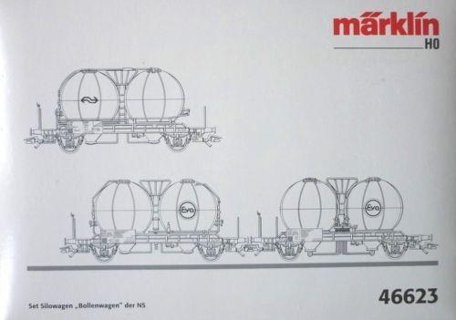 MÄRKLIN 46623 NS SET Silowagen   BOLLENWAGEN