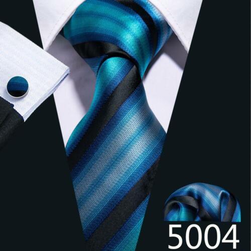 USA Men/'s Navy Blue Tie Hanky Necktie Cufflinks Square Tie Set Wedding Formal
