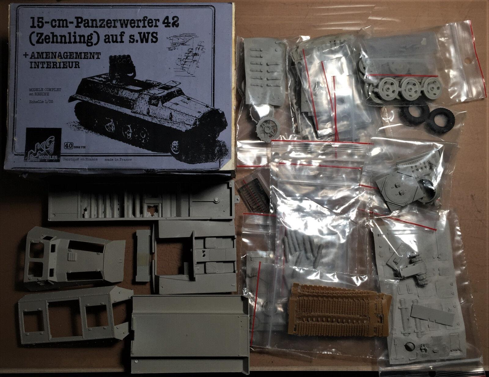 NKC MODELES 403592VM - 15cm PANZERWERFER 42 (ZEHNLING) AUF s.WS 1 35 RESIN KIT