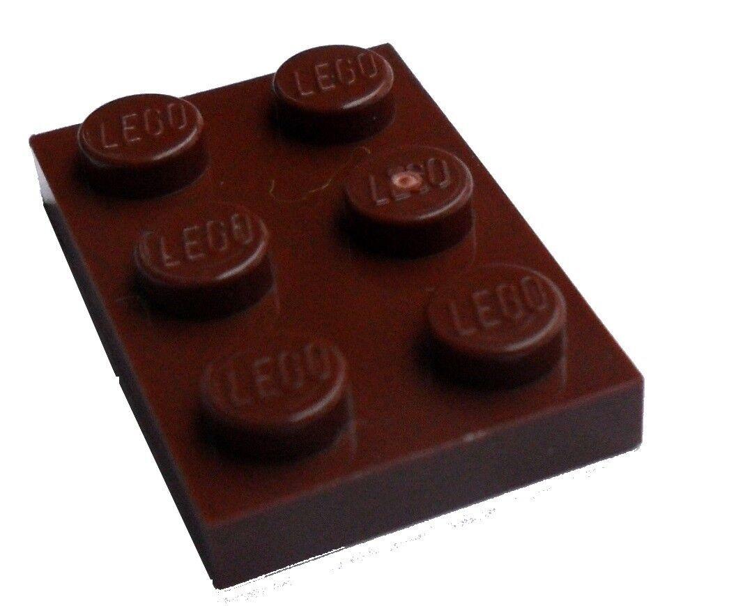 reddish brown Lego 10 Stück Platte in braun 1x10 braune Platten Neu 4477