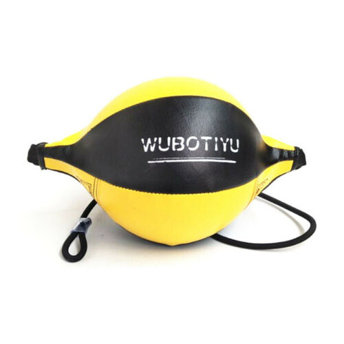 Faux Leather Boxing Speed Ball Double End Punching Bag Training Sandbag Tools