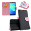 Huawei mate 20 pro estuche funda movil Book flip case bolso Fancy negro rosa