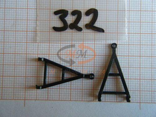 2 x Albédo pièce de rechange chute de matières Timon noir pour remorque h0 1:87-0322